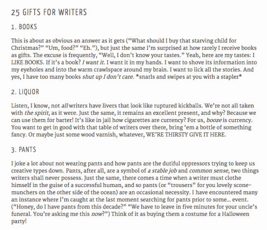 25 gifts for writers
